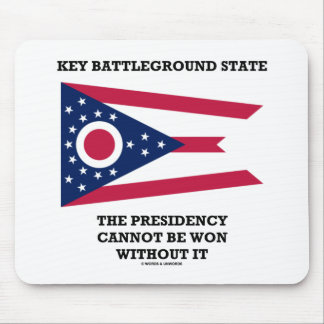 Key Battleground State Presidency Ohio State Flag Mouse Pad