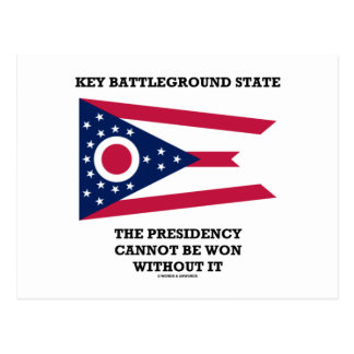 Key Battleground State Presidency Ohio State Flag Postcard