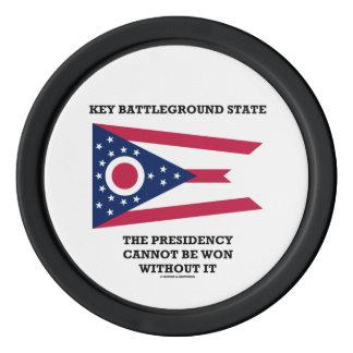 Key Battleground State Presidency Ohio State Flag Set Of Poker Chips