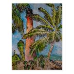 key biscayne cape florida lighthouse postcard