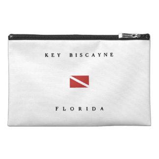 Key Biscayne Florida Scuba Dive Flag Travel Accessory Bag