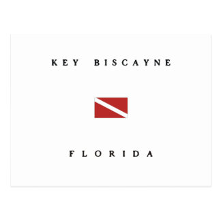 Key Biscayne Florida Scuba Dive Flag Postcard