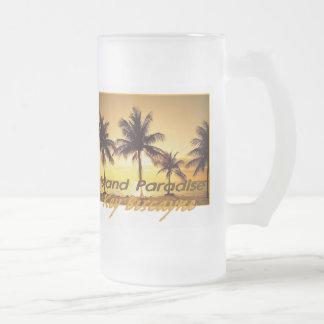 KEY BISCAYNE FROSTED GLASS BEER MUG