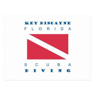 Key Biscayne Scuba Diving Postcard