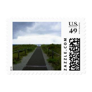 Key Biscayne Storm Postage Stamp