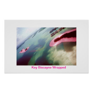 KEY BISCAYNE WRAPPED POSTER