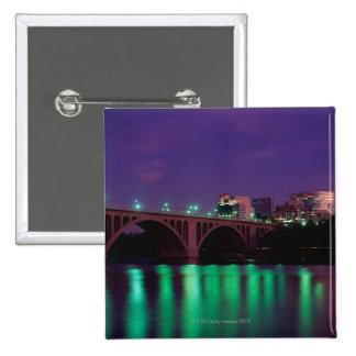 Key Bridge crossing the Potomac River 2 Inch Square Button