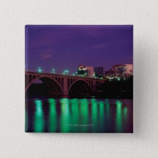 Key Bridge crossing the Potomac River Pinback Button