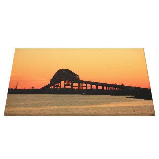 Key Bridge Sunset 3 Stretched Canvas Prints