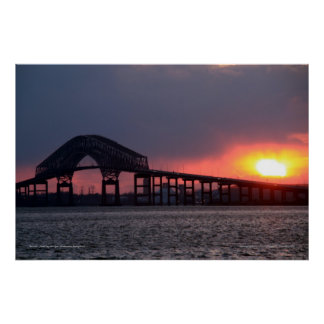 Key Bridge Sunset Print - Baltimore