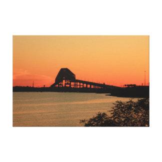 Key Bridge Sunset Two Canvas Print