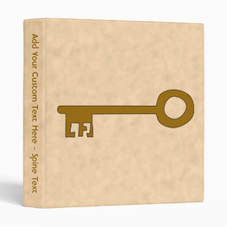 Key. Brown Key on Parchment Effect. Binder