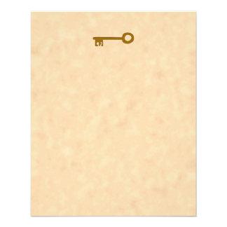 Key. Brown Key on Parchment Effect. Flyer