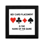 Key Card Placement Is The Name Of The Game Bridge Keepsake Box