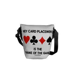 Key Card Placement Is The Name Of The Game Bridge Messenger Bags