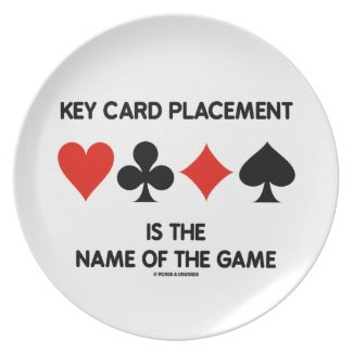 Key Card Placement Is The Name Of The Game Bridge Dinner Plates