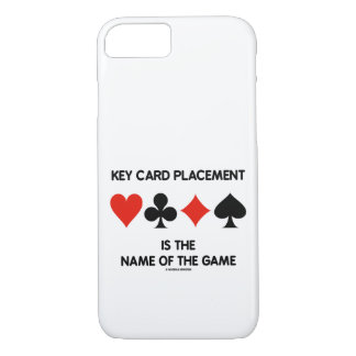 Key Card Placement Is The Name Of The Game iPhone 8/7 Case