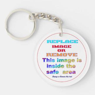 """Key-chain Acrylic Round (single-sided) Dim: 2"""" dia Single-Sided Round Acrylic Keychain"""