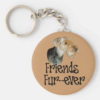 "key chain Airedale Terrier ""friends fur at all """