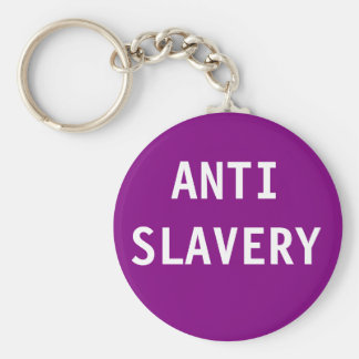 Key Chain Anti Slavery Purple