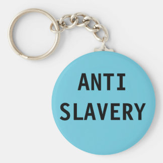 Key Chain Anti Slavery  Turquois Blue