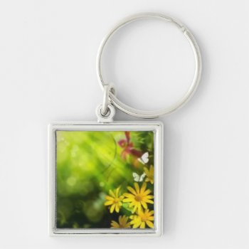 Key Chain Art Flowers Customize by creativeconceptss at Zazzle