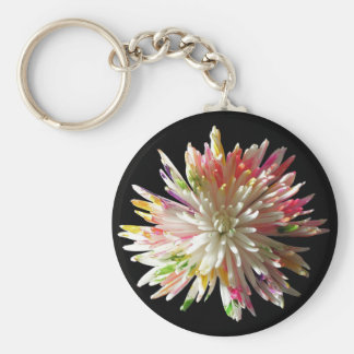 Key Chain - Basic - Painted White Spider Mum