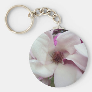 Key Chain - Basic - Saucer Magnolia Bloom