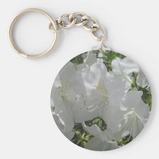 Key Chain - Basic - White Azalea