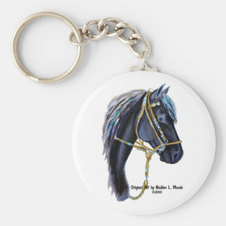Key Chain, Black Peruvian Horsehead Keychain