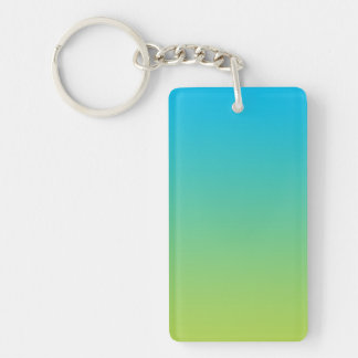 Key Chain: BLUE GREEN OMBRE Keychain
