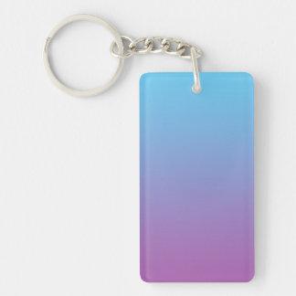 Key Chain: BLUE & PURPLE OMBRE Keychain