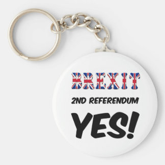 Key Chain Brexit 2nd Referendum Yes