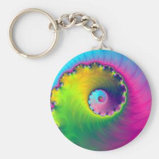 Key Chain  Color Wash Spiral