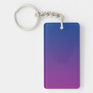 Key Chain: DARK BLUE PURPLE OMBRE Keychain