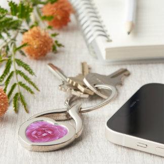 Key Chain - Dark Pink Rose