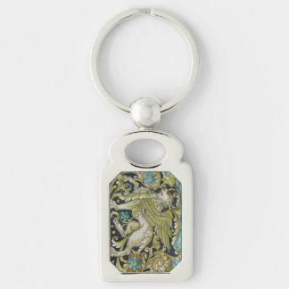 Key Chain--Deruta Tile Lion Keychain