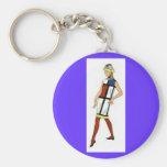 Key Chain - Fashionista 1960s Colorblock Dress Keychains