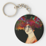 key chain flowery lady