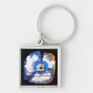 Key Chain Framed Floral Painting Design