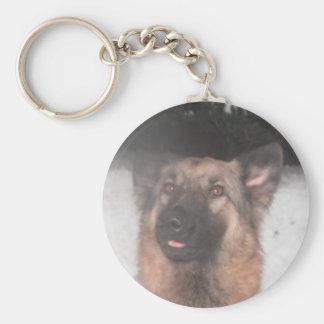 Key Chain German Shepherd Sticking Tongue Out