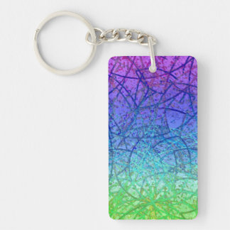 Key Chain Grunge Art Abstract