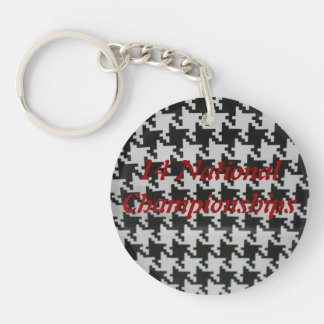 Key Chain in Houndstooth