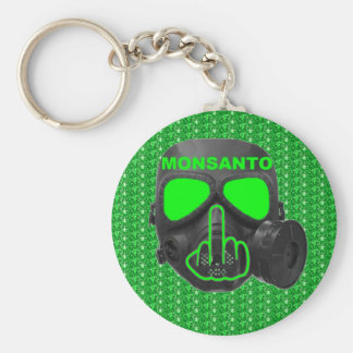 Key Chain Monsanto Gas Mask Flip