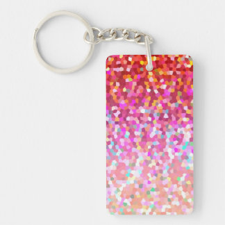 Key Chain Mosaic Sparkley Texture