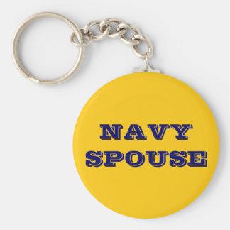 Key Chain Navy Spouse