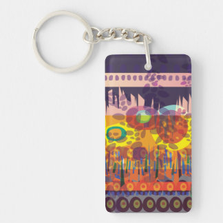 Key Chain Night Forest