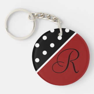 Key Chain - Personalized -Red, Black White