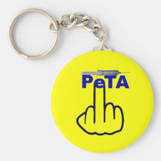 Key Chain Peta Flip Basic Round Button Keychain