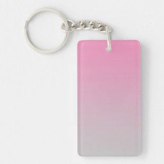 Key Chain: PINK GRAY OMBRE Keychain